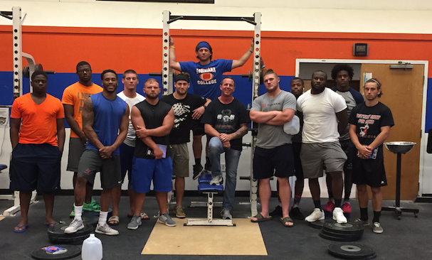 MindSet Training with a select group of Louisiana College Football Players.